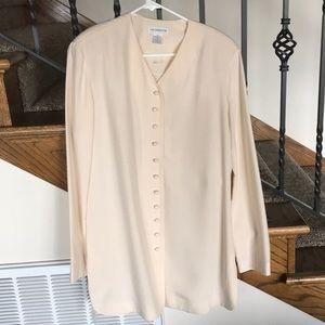 Liz Claiborne NWT 100% silk summer blazer, size 10